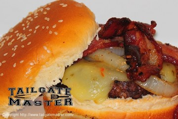 Angus bacon cheeseburgers