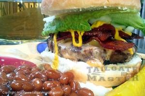 lets eat bacon steak burgers