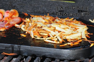 grilling cast iron skillet hashbrown potatoes