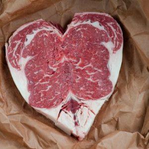 steak heart meat bbq