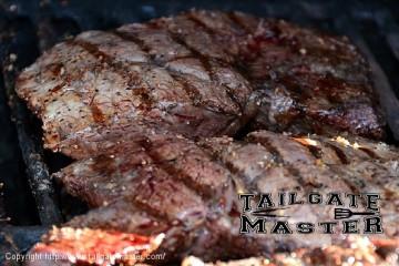 sirloin steak on the grill