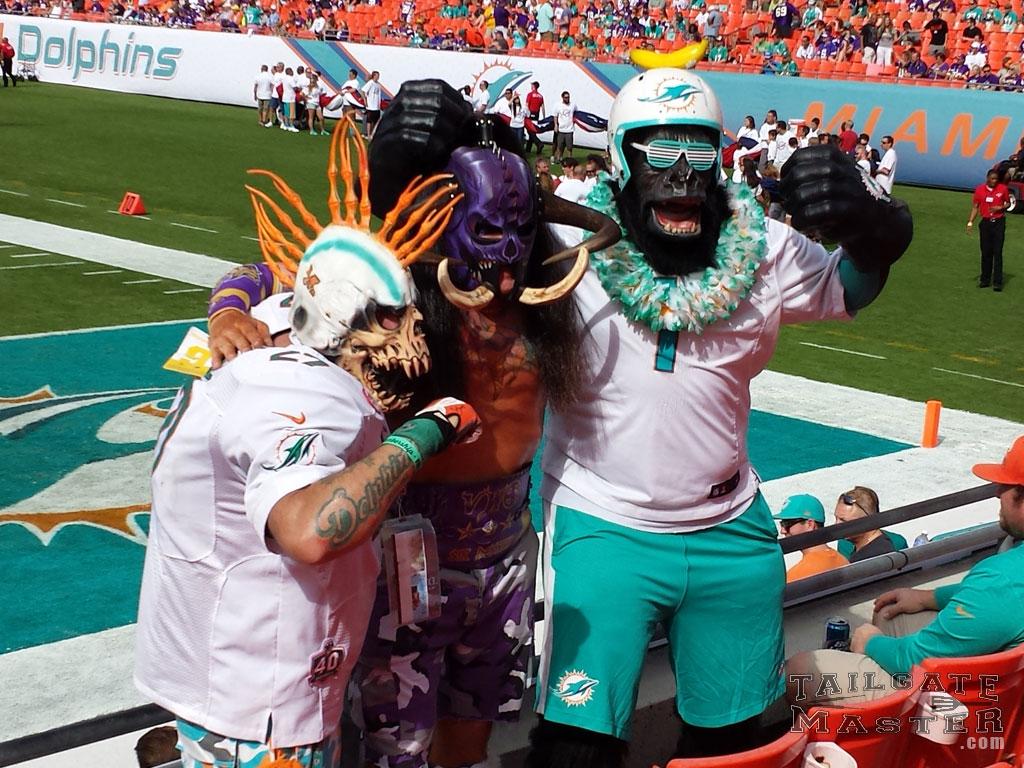 Tailgating Photos Minnesota Vikings at Miami Dolphins 2014