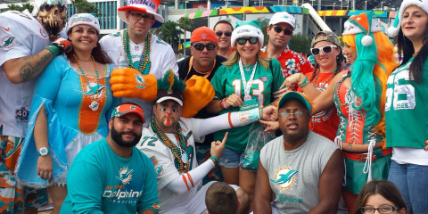 PhinAddicts tailgate tailgateing outside sun life stadium miami florida