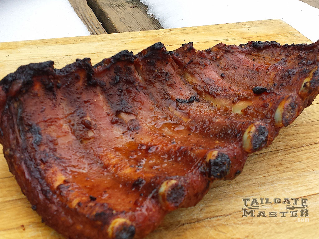 pork babyback ribs grilled to perfection tailgating