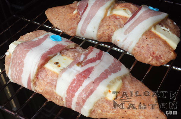 turkey canoes turkey breast with pepper jack cheese and thick sliced bacon wrap