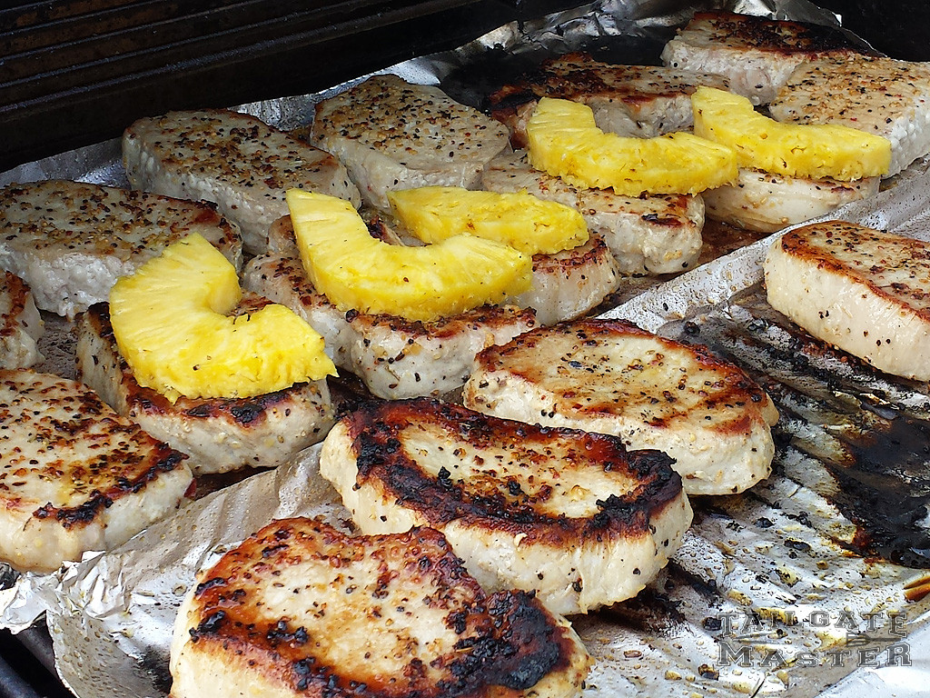 grilled pork loin chops with pineapple