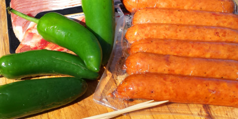 smoked brats with bacon and peppers grilled jalapeno poppers