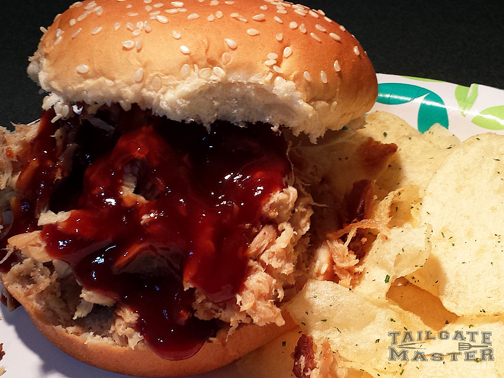 pulled pork served on a bun