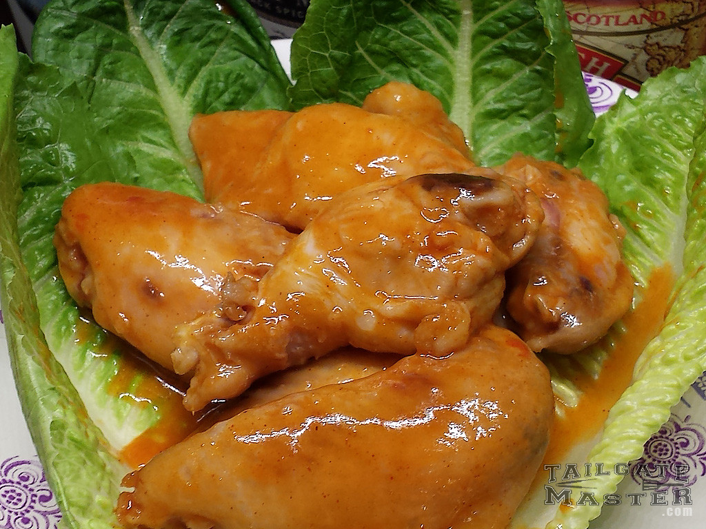 hot and tangy wings in the crock pot