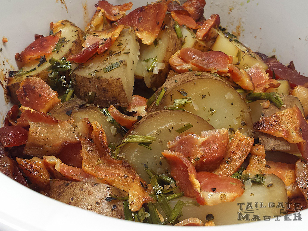 crockpot potatoes with bacon and chives