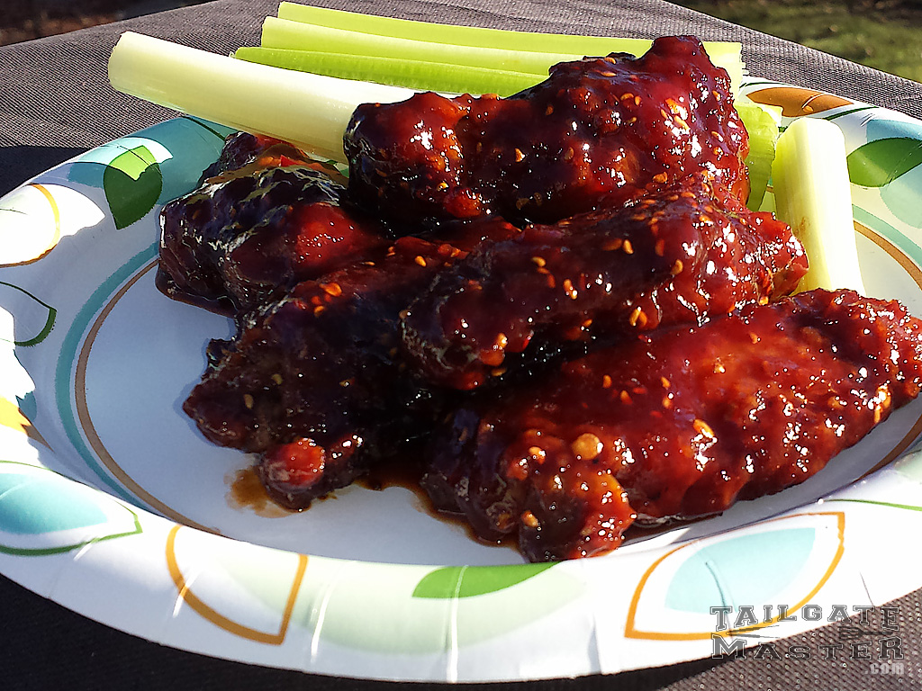 raspberry chicken wings