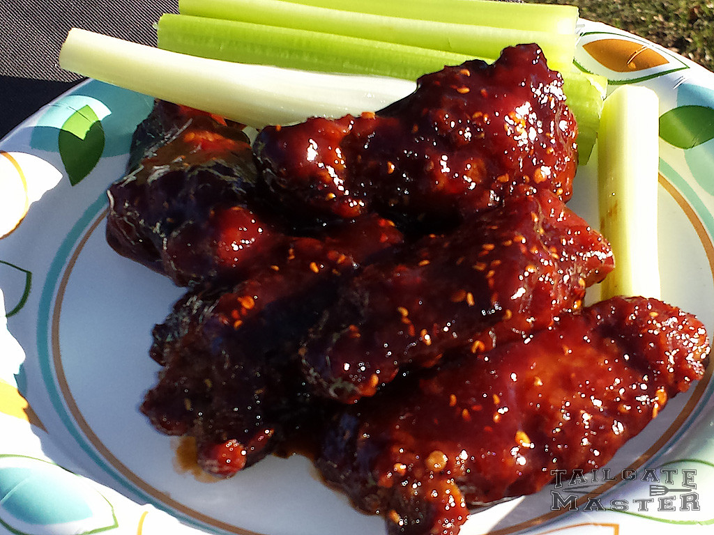 red raspberry chicken wings