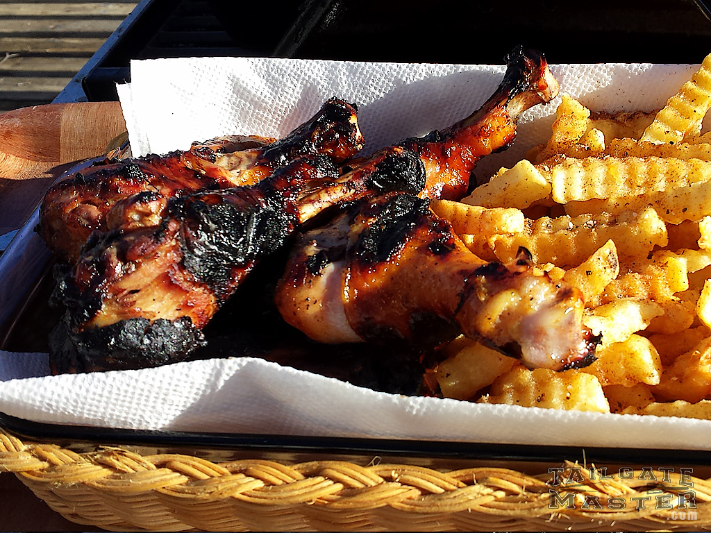 drumsticks on the grill tailgate master