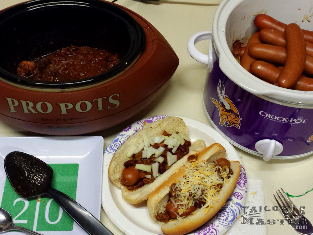 Chili Dogs are a great food on game day!