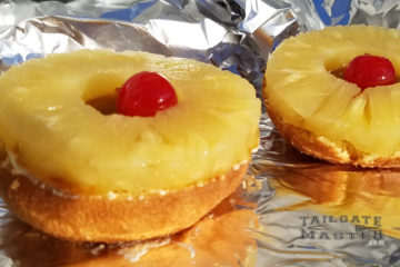 Grilled pineapple doughnut tailgaters breakfast