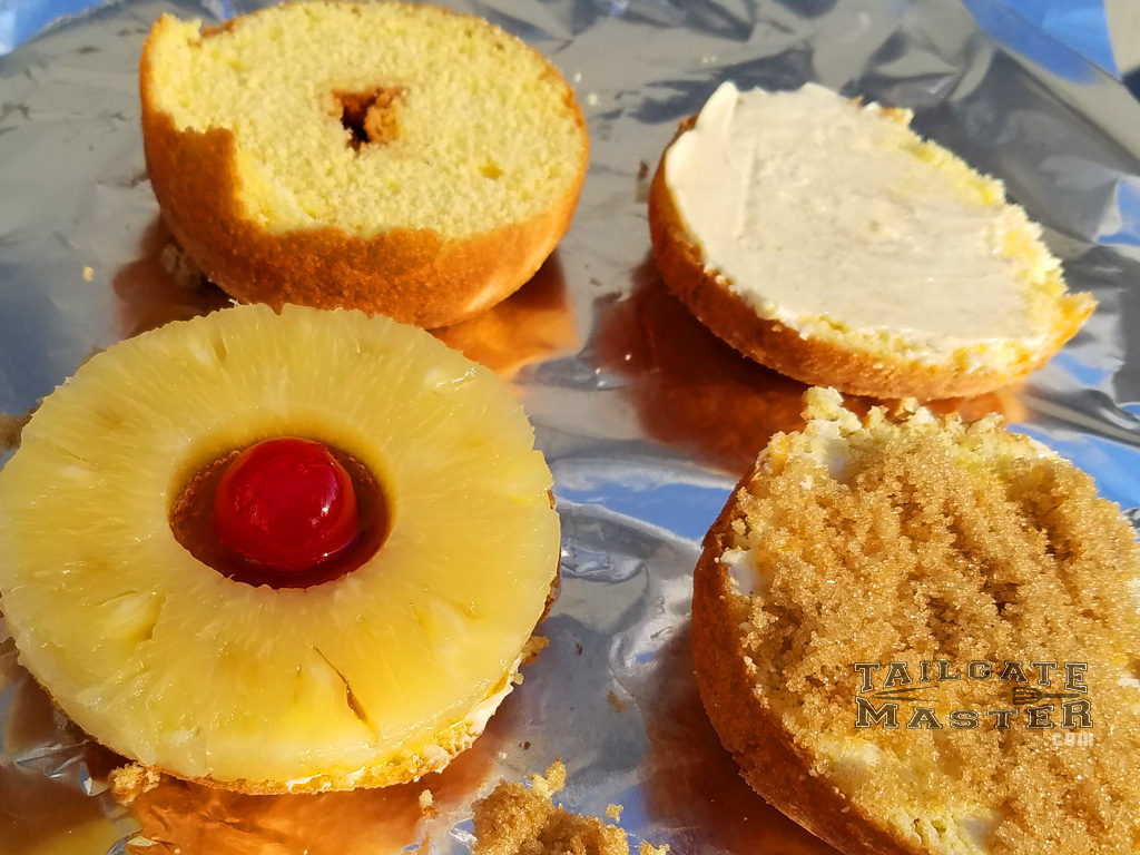 how to make grilled pineapple doughnuts