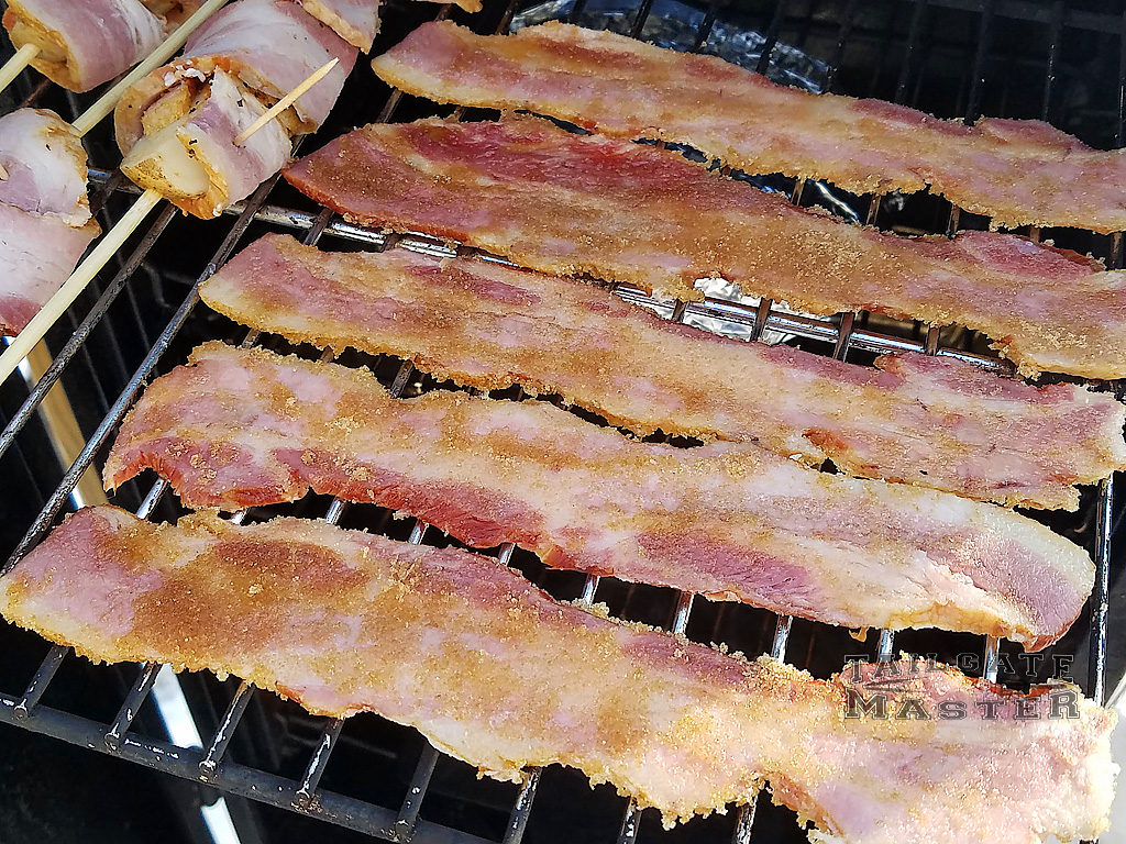 meat candy bacon in the smoker
