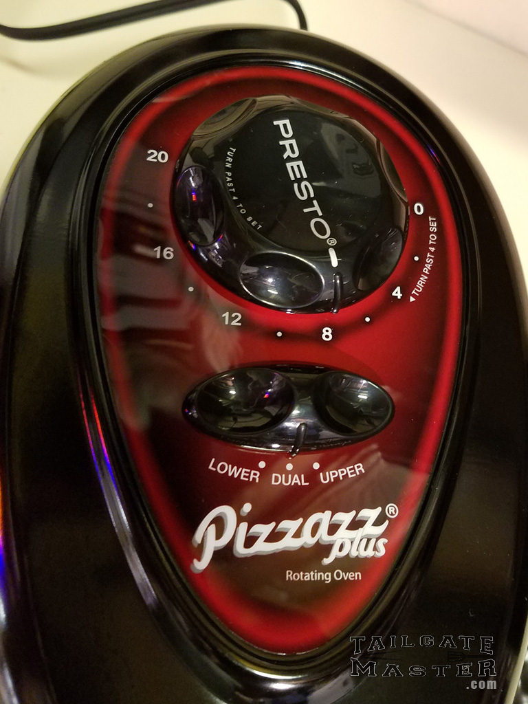Pizzazz Plus rotating oven controls