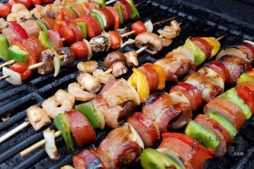 Sausage Shrimp Kabobs