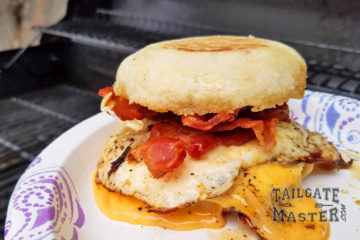 now this is a tailgating breakfast sandwich