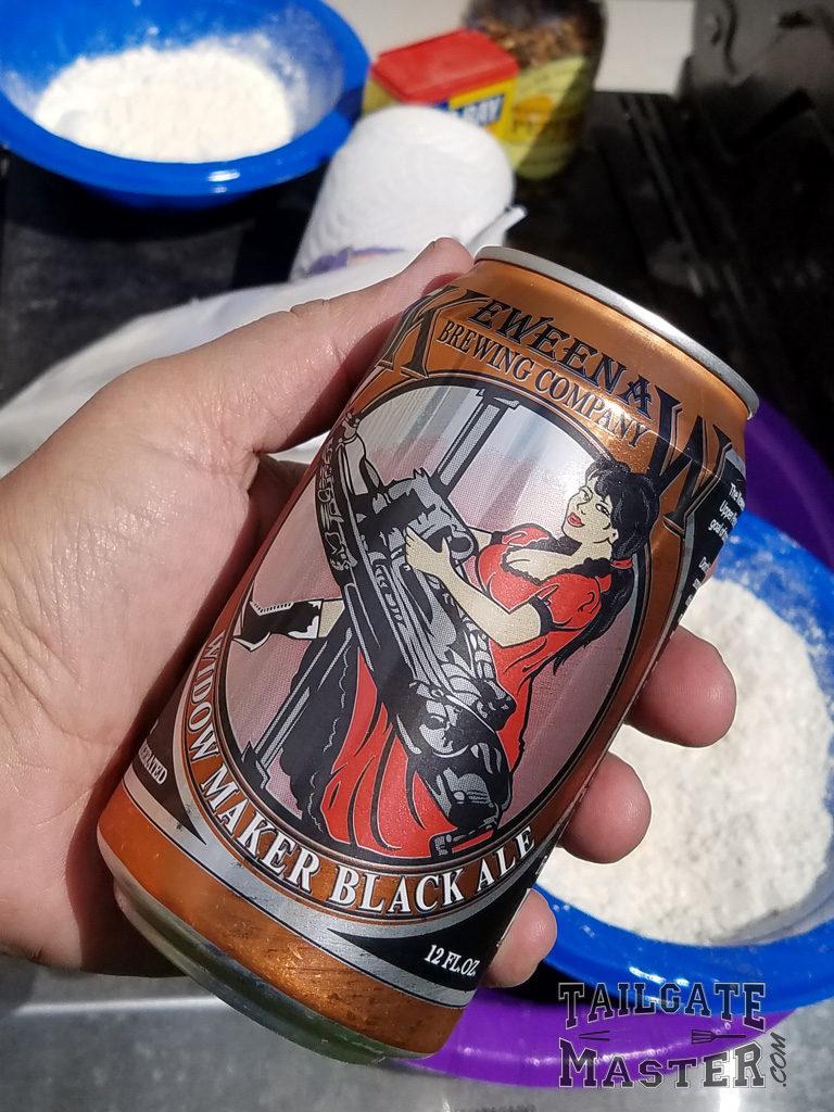 Beer for the batter Widow maker Black Ale