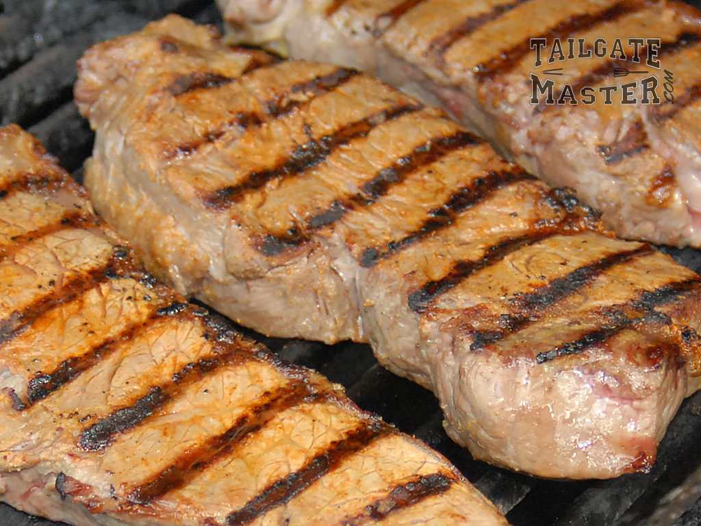 grill the steak first, seer when you are almost done