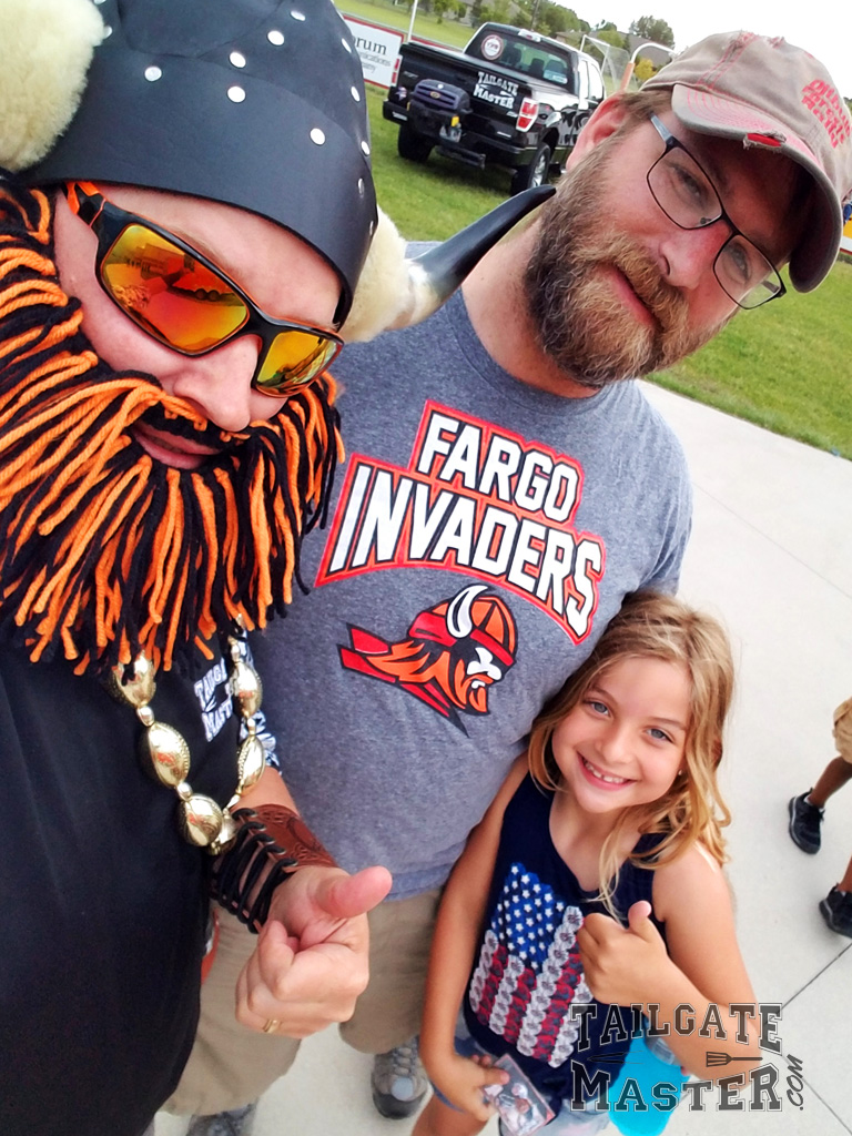 tailgating Fargo Invaders semi pro football game