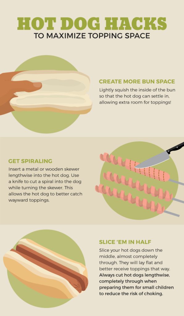 hot dog hacks infographic
