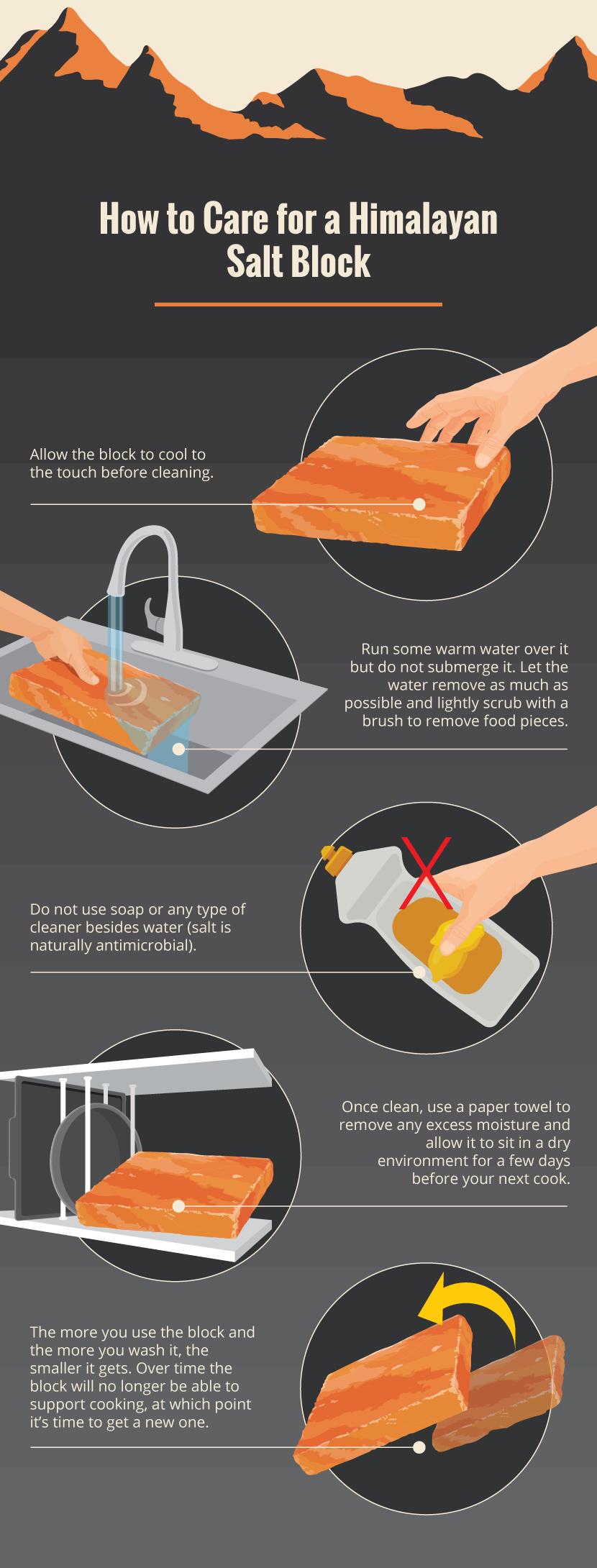 himalayan salt block care and how to