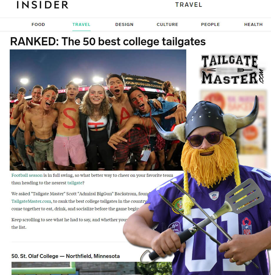 Admiral BigGun on thisisinsider.com top 50 best college tailgates in the U.S.A