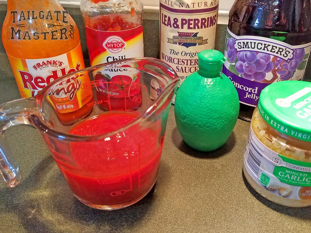 purple glaze ribs mixture