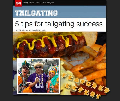 Scott Backstrom featured tailgating expert on CNN.com