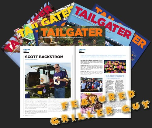 Scott Backstrom featured griller guy in Tailgater magazine