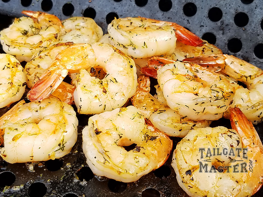 perfect shrimp on the bbq grill