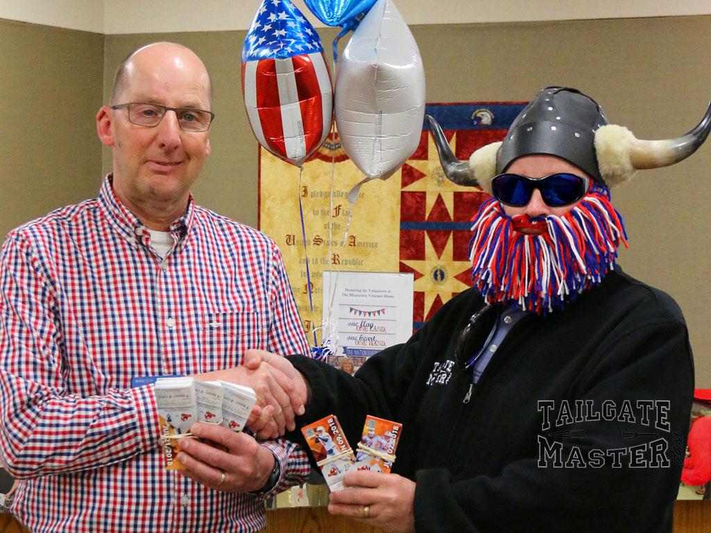 fartgo invadres tickets for the VA in Fergus Falls, MN