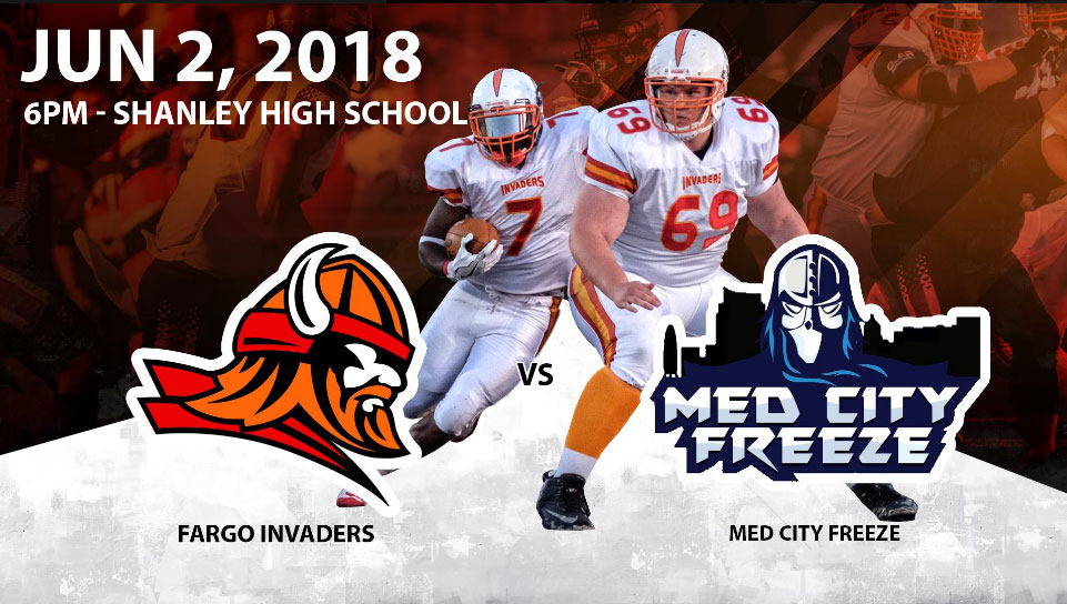 Rochester Med City Freeze at Fargo Invaders june 2, 2018