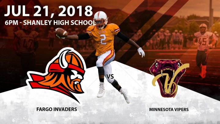 Fargo Invaders vs Minnesota Vipers 2018