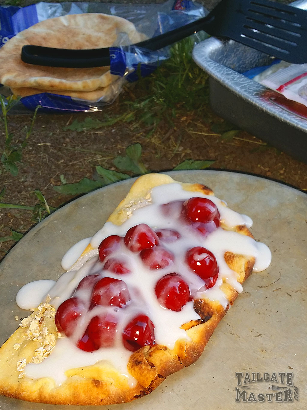 cherry campfire pie on the gril