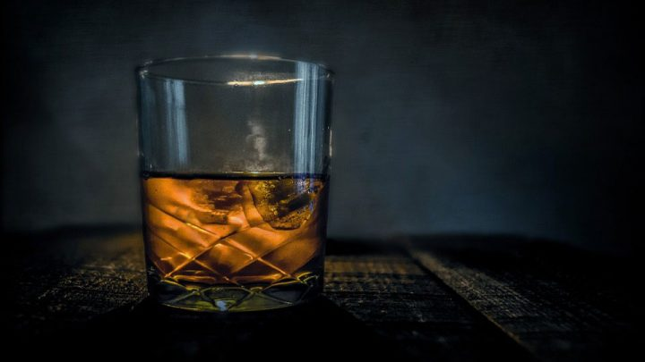 bourbon in a glass