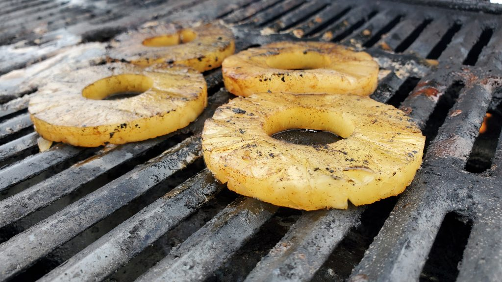 Grilled Pineapple Soaked in Rum