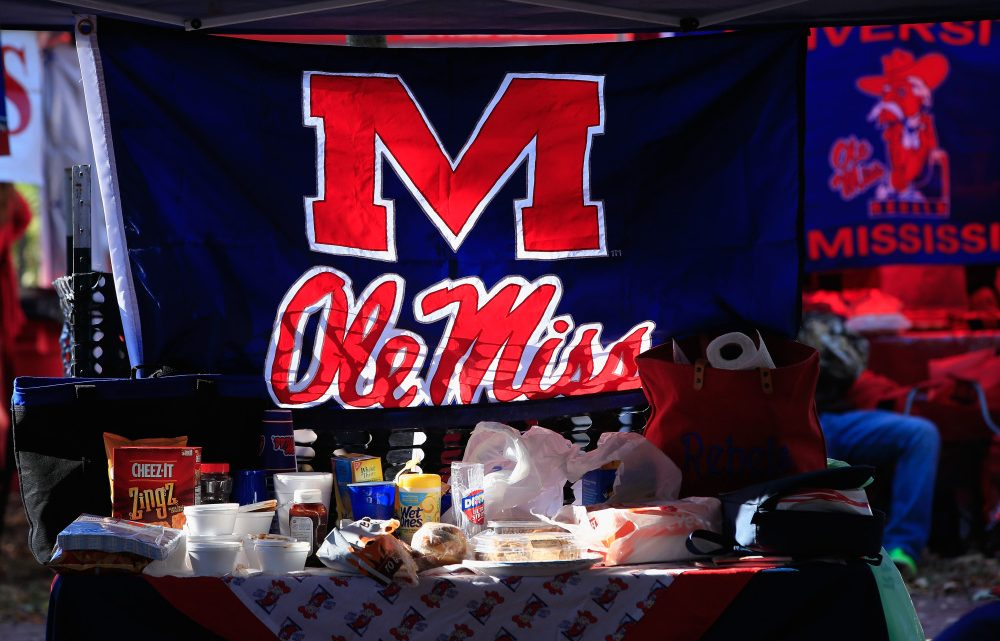 OXFORD, MS - NOVEMBER 01: Fans host elaborate pregame parties in The Grove as the Auburn Tigers face the Mississippi Rebels at Vaught-Hemingway Stadium on November 1, 2014 in Oxford, Mississippi. Auburn defeated Mississippi 35-31.