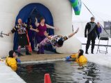 Admiral BigGun does the Polar Plunge in Otter Tail County, Minnesota