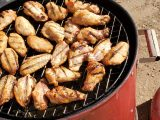 wings on the electric smoker