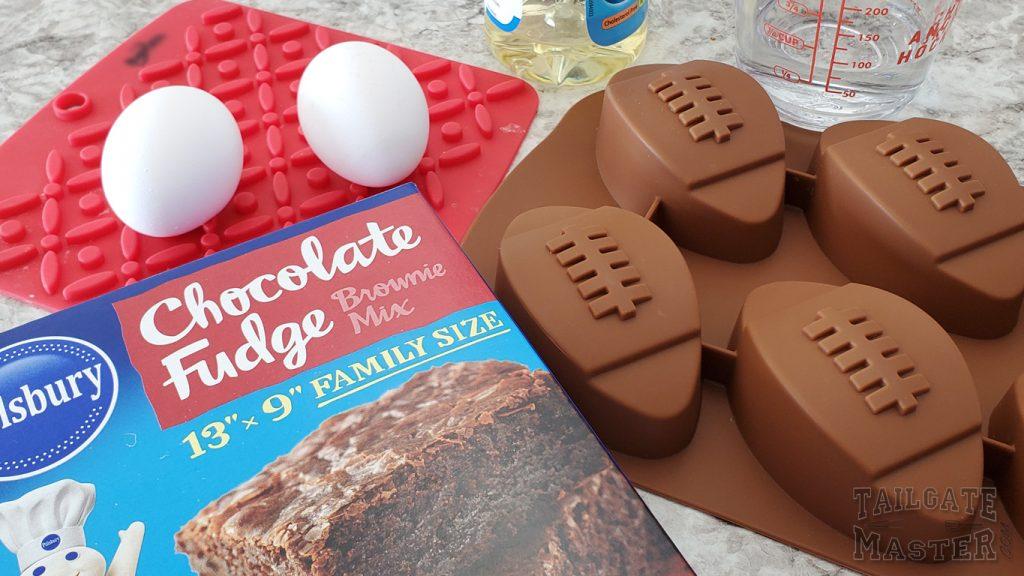 chocolate fooball brownie ingredients