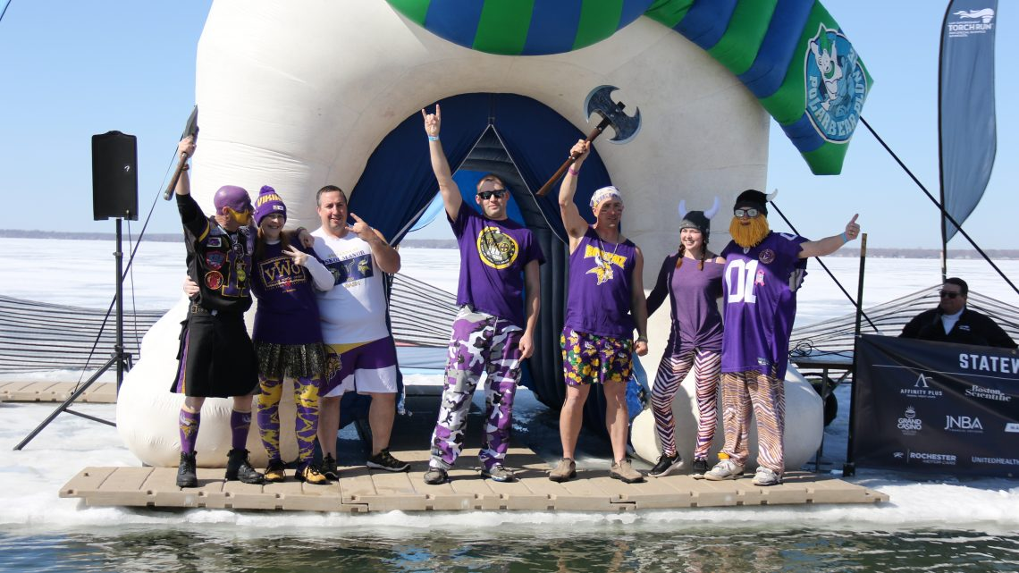 """the """"Polar Plungers"""" raised over $8900 in Otter Tail Lake polar plunge for Special Olympics"""